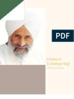 In Honour of Dr. Harbhajan Singh
