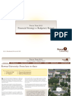 FY2012 Budgetary Report