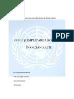 Organizația Națiunilor Unite si  Romania