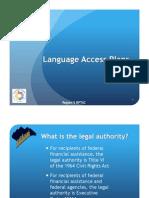 Language Access Plan PowerPoint Early Bird