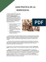 Igualdad política de la democracia