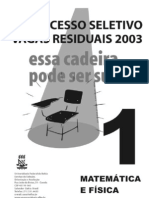 Cad 1 UFBA Vagas Residuais