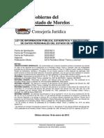 LEY DE INFORMACIÓN PÚBLICA, ESTADÍSTICA Y PROTECCIÓN DE DATOS PERSONALES DEL ESTADO DE MORELOS