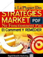 Pourquoi La Plupart Des Strategies Marketing Ne Fonctionnent Pas