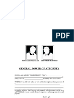 General Power of Attorney for Pakistan Sample