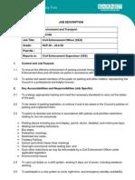Civil Enforcement Officer - Role Profile - 100368