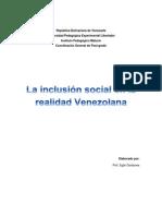 La Inclusion Social en Venezuela