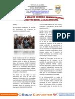 Informe Gestion Social