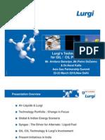 Lurgi Technology for Gtl Ctl Project Amitava Banerjee