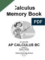 Cantey - Calculus Memory Book