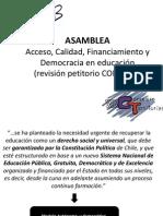 Petitorio CONFECh - Resumen