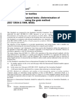 As 2001.2.3.2-2001 Methods of Test for Textiles Physical Tests - Determination of Maximum Force Using the Gra