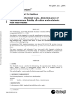 As 2001.3.6-2005 Methods of Test for Textiles Chemical Tests - Determination of Cuprammonium Fluidity of Cott