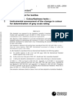 As 2001.4.A05-2004 Method of Test for Textiles Colourfastness Tests - Instrumental Assessment of the Change i