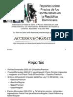 Precios Combustibles República Dominicana 2000-2012