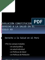 Evolución Constitucional el Derecho a la Salud en
