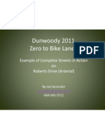 Dunwoody 2011 - Zero to 3+ Miles of Bike Lanes
