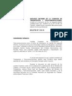 INFORME DE LA COMISIÓN DE TRANSPORTES Y TELECOMUNICACIONES
