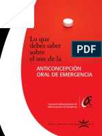 Anticoncepción oral de emergencia