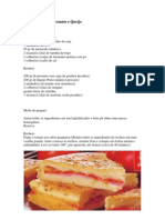 Torta Rápida de Presunto e Queijo
