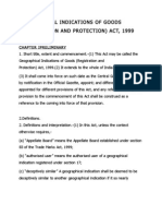 Geographical Indications of Goods (Registration and Protection) Act, 1999