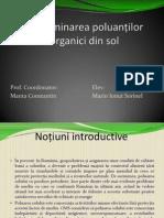 Determinarea poluanților organici din sol