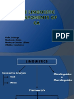 The Linguistic Components of CA