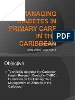Managing Diabetes in Primary Care in the Caribbean