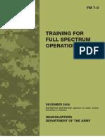 FM7-0 Training for Full Spectrum Operations