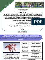 Diapositivas Tesis Plan Curricular y Competencias Investigativas Jose Lopez Vega