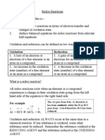 Redox Reactions Revised