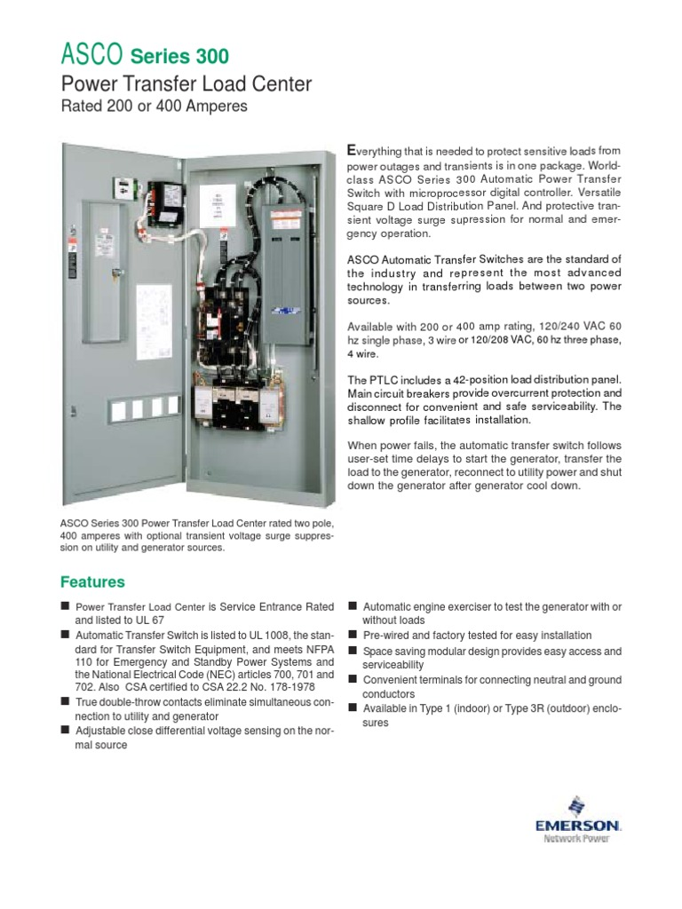 200amp Main Circuit Breaker With 60amp Generator Series 300 Power Load Center Switch Electrical Equipment