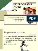 Diseño de programa de ejercicio aeróbico 1