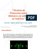 Técnicas de Protección contra Malwares sin utilizar un Antivirus
