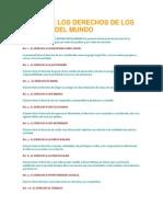 CARTA DE LOS DERECHOS DE LOS JÓVENES DEL MUNDO