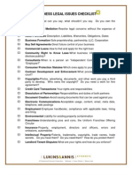 Business Legal Issues Checklist
