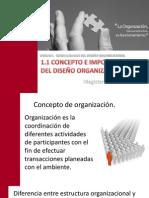 SESION 1. CONCEPTO E IMPORTANCIA DEL DISEÑO ORGANIZACIONAL