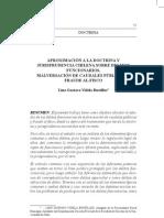 Aproximacion a La Doctrina y Jurisprudencia Chilena Sobre Delitos Funcionarios. Lino Gustavo Vidella