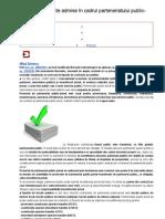 Tipuri de contracte admise în cadrul parteneriatului public