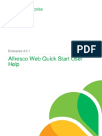 Alfresco Web Quick Start User Help Enterprise