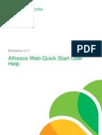 Alfresco Web Quick Start User Help Enterprise