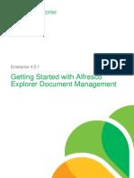 Getting Started With Alfresco Explorer DM for Enterprise