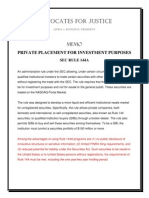 SEC Rule 144A_ Private Placement for Investment Purposes