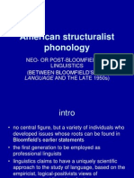 American Structuralist Phonology