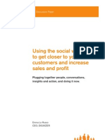 Using the social web to get closer to your customers and increase sales and profit