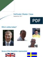 NetScaler MasterClass - September 11