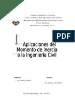Aplicaciones Del Momento de Inercia en La Ingenieria Civil