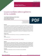 Estudio Europeo Sobre E-gobierno en Las Ciudades