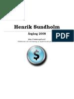 Henrik Sundholm - Årgång 2008