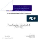 Standardizarea Produselor - Organisme Nationale Si Internationale de Standardizare - Continutul Unui Standard